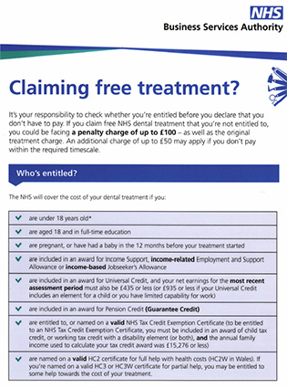 Claiming Free Treatment